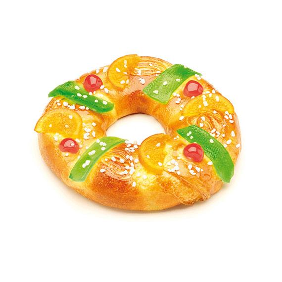 Tortel con Mazapán y Fruta 500g