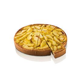 Tarta de manzana precortada