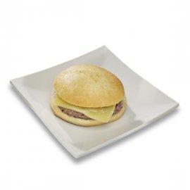 Mollete hamburguesa con queso