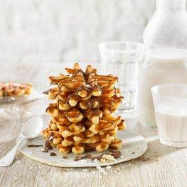 Mini porciones de gofre belga