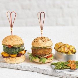Mini Burgers de lentejas y arroz integral